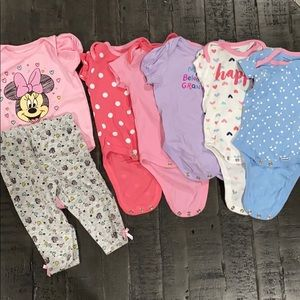 Other - Bundle of 5 bodysuits & 1 matching Minnie Set